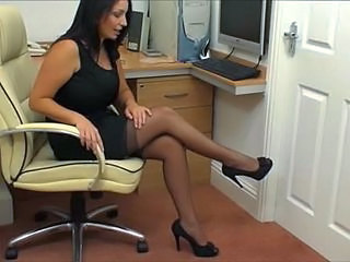 Office Secretary Stockings Stockings