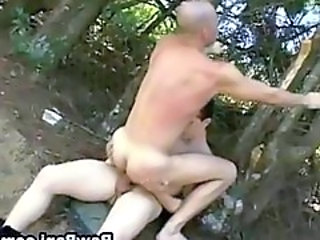 Army Gay Outdoor Bareback