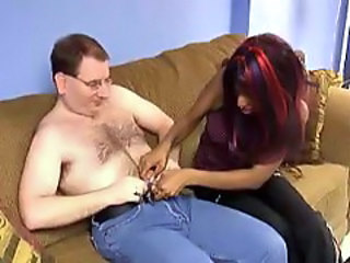 Ebony Handjob Interracial