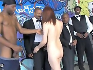Bukkake Gangbang Interracial Party