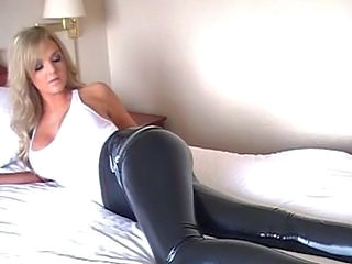 Amazing Babe Blonde  Leather