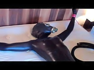 Funny Latex Tied Mask Surprise Rubber
