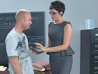 Amazing Babe Glasses Hardcore Skirt Teacher Milf Ass School Teacher