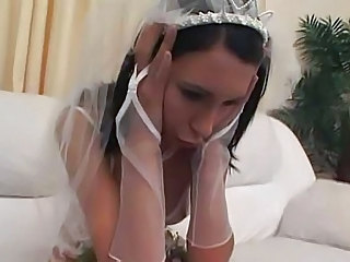 Bride Brunette Girlfriend Brunette Married