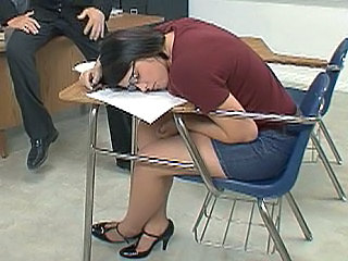 Brunette Glasses Jeans School Skirt Sleeping Teacher Jeans Ass  School Teacher Sleeping Brunette