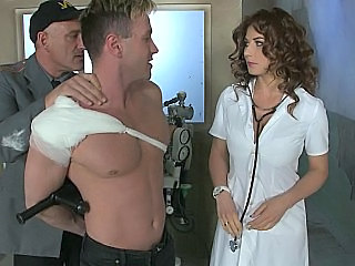 Brunette Doctor Prison Uniform Son