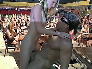 Blonde Party Public Skinny Young Public