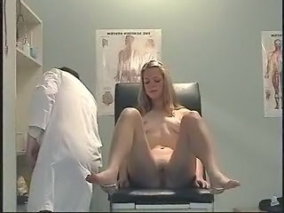 Blonde Doctor Feet Legs Russian Gyno
