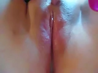 Clit  Masturbating Pussy Shaved Solo Vibrator