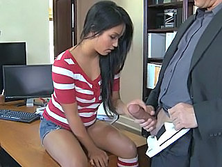 Brunette Clothed  Office Office Pussy School Teacher