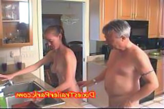 Daddy Kitchen Old and Young Teen Daddy Teen Babe Daddy Old And Young Kitchen Teen Dad Teen
