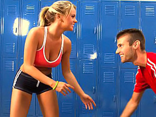 Girlfriend Sport Teen Cute Blonde Fight