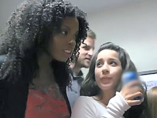 Ebony Interracial Party Student Young Student Party