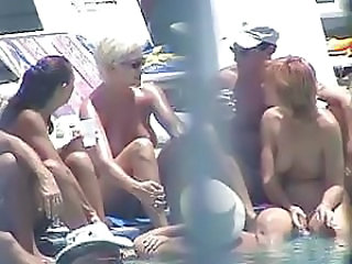 Blonde Brunette HiddenCam Outdoor Pool Redhead Voyeur Outdoor