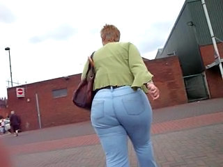 Ass Granny Outdoor Mature Ass Jeans Ass