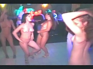 Dancing Nudist Party Public Club Public
