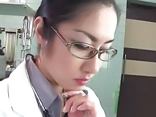 Asian Doctor Glasses Japanese Uniform