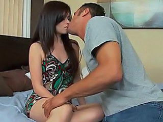 Brunette European Kissing Boyfriend European