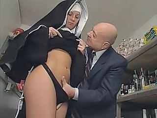 Nun Panty Uniform Old And Young Dirty