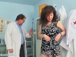 Brunette Doctor Mature  Uniform Doctor Mature