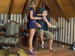 Brunette European   Pornstar Spanish Teacher