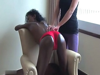 Doggystyle Ebony Interracial Massage Panty Ebony Ass Doggy Ass