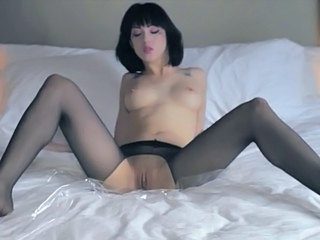 Brunette Cute Pantyhose Pussy Shaved Solo Cute Brunette Pantyhose Softcore