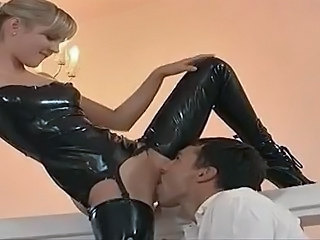 Clothed Latex Licking Clothed Fuck