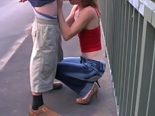 Blowjob Clothed Jeans Outdoor Public Skinny Clothed Fuck Outdoor Public
