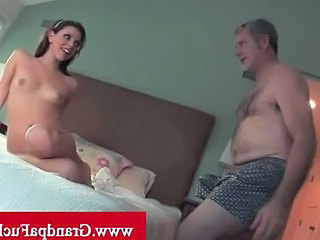 Amazing Brunette Hardcore Older Pornstar Older Man