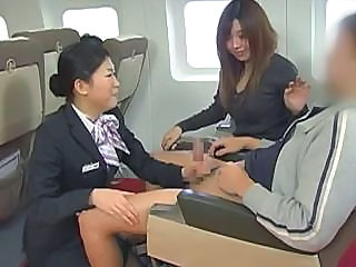 Asian Handjob Japanese Pornstar Public Uniform Handjob Asian Public Asian Stewardess Public