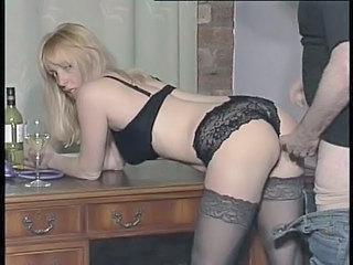 Blonde British Doggystyle European Hardcore Lingerie Stockings British Fuck Stockings Lingerie European British