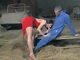 Blowjob Brunette Farm Handjob  Outdoor Uniform Blowjob Milf Outdoor Farm Milf Blowjob