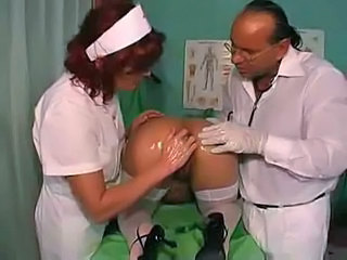 Anal Ass Doctor Fisting Redhead Stockings Threesome Uniform Stockings Fisting Anal Threesome Anal