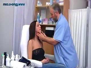 Brunette Doctor Pornstar Uniform Gyno