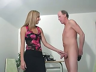 Amazing Blonde Handjob Older Pornstar Cfnm Handjob Old And Young Jerk