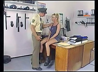 Blonde Office Pornstar Uniform Police