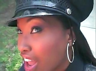 Amazing Ebony Uniform Police
