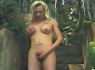 Blonde Shemale Forest