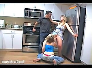 Clothed Groupsex Kitchen Threesome Kitchen Sex
