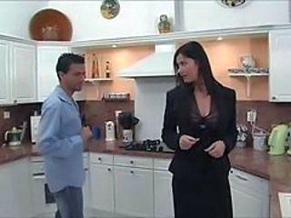 French Kitchen  French Milf European French
