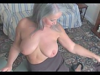 Granny Granny Busty Striptease