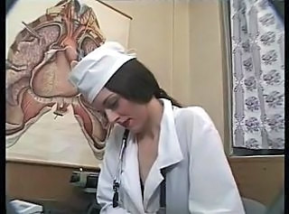 Brunette  Nurse Uniform Wild