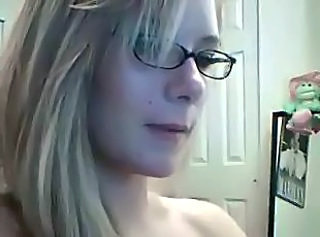 Blonde Glasses Webcam Webcam Blonde