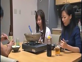 Drunk Family Japanese Kitchen  Young Sister Family Japanese Milf Senior