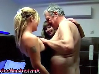 Cute Groupsex Old and Young Tattoo Threesome Young Prostitute Old And Young
