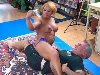 Mature Muscled Older Tattoo Wrestling