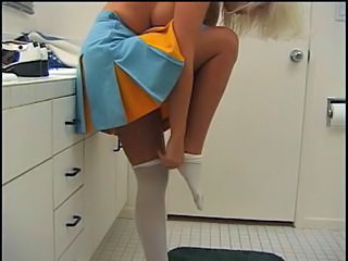 Bathroom Cheerleader Uniform Cheerleader Bathroom