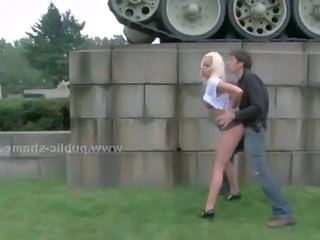 Blonde Cash Clothed Doggystyle Hardcore Outdoor Public Prostitute Outdoor Public