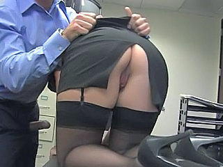 Ass Office Pornstar Secretary Skirt Stockings Stockings